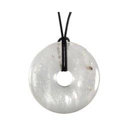 Bergkristal hanger donut 4 cm