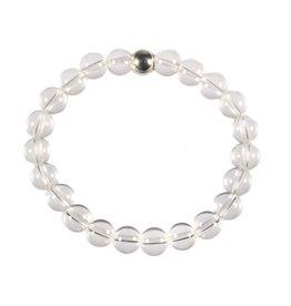 Bergkristal armband 18 cm | 8 mm kralen