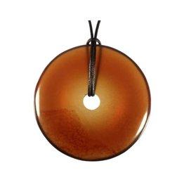 Barnsteen hanger donut 5 cm
