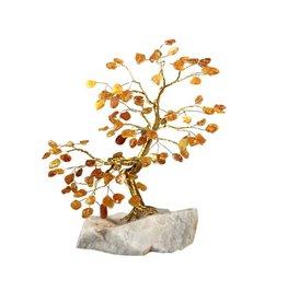 Barnsteen edelsteen boompje