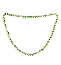 Barnsteen (natuurlijk groen) ketting 6 mm kralen