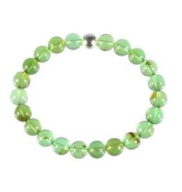 Barnsteen (natuurlijk groen) armband A-kwaliteit 8 mm kralen 20 cm