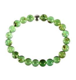Barnsteen (natuurlijk groen) armband 20 cm   8 mm kralen
