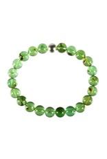Barnsteen (natuurlijk groen) armband 18 cm | 8 mm kralen