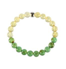 Barnsteen (natuurlijk geel en groen) armband 20 cm | 8 mm kralen