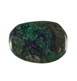 Azuriet-malachiet steen plat gepolijst