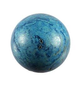 Azuriet met chrysocolla en kwarts edelsteen bol 55 mm