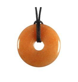 Aventurijn (rood) hanger donut 3 cm