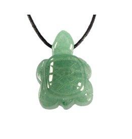 Aventurijn (groen) hanger schildpad doorboor