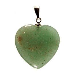 Aventurijn (groen) hanger hart 20 mm