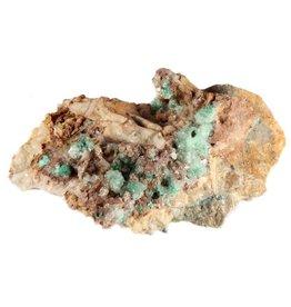 Aurichalciet kristallen op matrix 9,5 x 5,5 x 3,5 cm / 201 gram