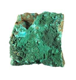 Atacamiet kristallen op chrysocolla 9,6 x 9,2 x 5 cm / 637 gram