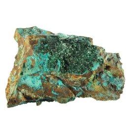 Atacamiet kristallen op chrysocolla 11,5 x 9,5 x 4,5 cm / 485 gram