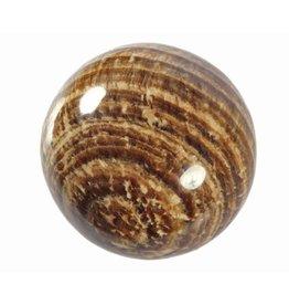 Aragoniet (bruin) edelsteen bol 54 mm