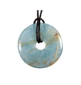 Aragoniet (blauw) hanger donut 3 cm