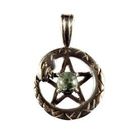 Zilveren hanger serafiniet pentagram slang