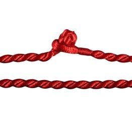 Gedraaid koord 50 cm rood