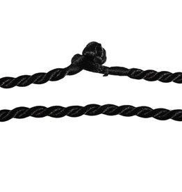 Gedraaid koord 50 cm zwart