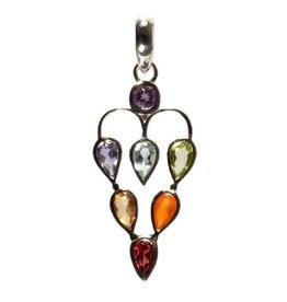 Zilveren hanger chakra hart