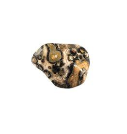 Jaspis (luipaard) steen getrommeld 5 - 10 gram