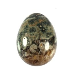 Jaspis (oceaan) edelsteen ei 6,2 x 4,5 cm / 182 gram