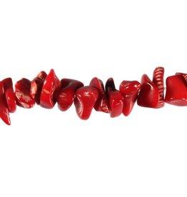 Koraal (rood gekleurd) splitsnoer 40 cm