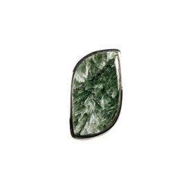 Zilveren ring serafiniet maat 17 1/2   2,8 x 1,6 cm