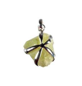 Zilveren hanger brazilianiet | kristal 2 x 2 cm