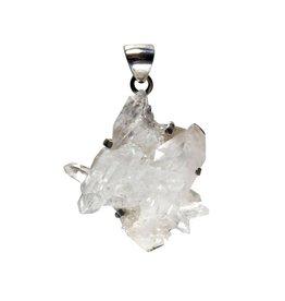 Zilveren hanger bergkristal | cluster 3,5 x 3,4 cm
