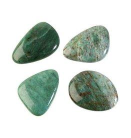 Jaspis (drakenbloed) steen plat gepolijst