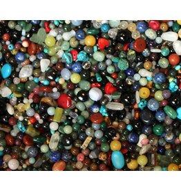 Gemengde edelsteen kralen mix (175 gram)