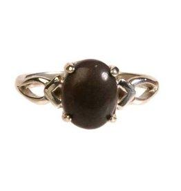 Zilveren ring master shamanite maat 17 | cabochon