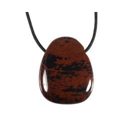 Obsidiaan (mahonie) hanger doorboord