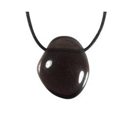 Obsidiaan (apachetranen) hanger doorboord
