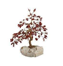 Jaspis (rood) edelsteen boompje groot