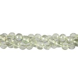 Prasioliet kralen rond facet 8 mm (snoer van 40 cm)