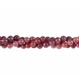 Robijn kralen rond 6 mm (snoer van 40 cm)