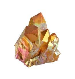 Golden sunset aura kwarts cluster 4,2 x 3,7 x 4,1 cm / 56 gram