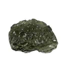 Moldaviet ruw 3 x 2,5 x 0,8 cm / 8,07 gram