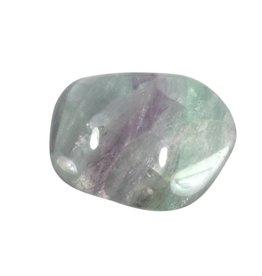 Fluoriet (multi) steen getrommeld 15 - 25 gram