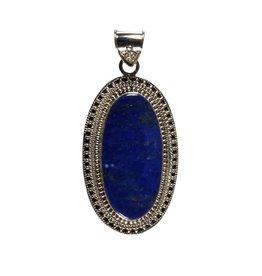 Zilveren hanger lapis lazuli   3,5 x 1,7 cm