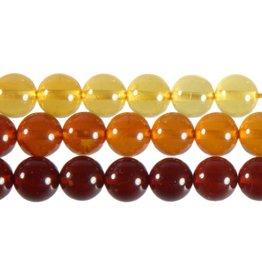 Barnsteen (shaded) kralen rond 6 mm (snoer van 40 cm)