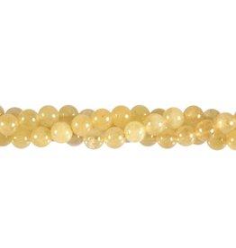 Danburiet (geel) kralen rond 5,5 mm (streng van 40 cm)