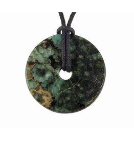 Smaragd hanger donut 3 - 3,5 cm