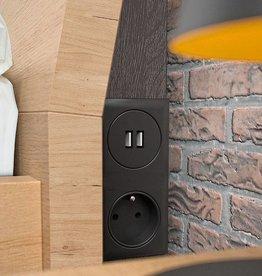 Stopcontact en USB verlichting in het hoofdbord