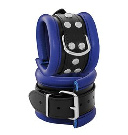 KIOTOS Leather Anklecuffs 6,5 cm - Blue