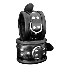 KIOTOS Leather Anklecuffs 6,5 cm - Black