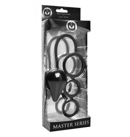 Master Series Triple Threat 3 Ring and Anal Plug