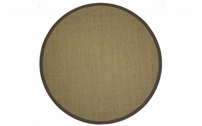 sisal teppich premium 13 beige rund mit hochwertiger bord re aus baumwolle floorpassion. Black Bedroom Furniture Sets. Home Design Ideas