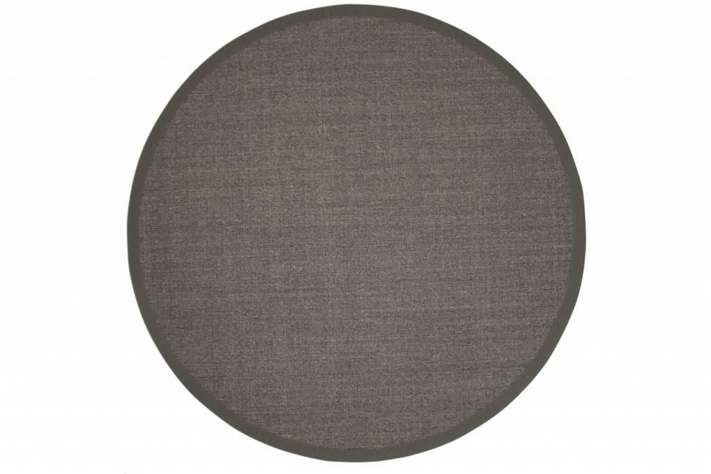 Sisal Teppich Premium 24 Anthrazit Rund Mit Hochwertiger Bordure Aus